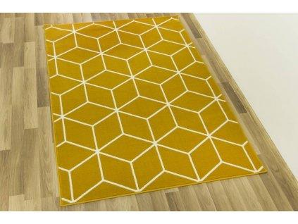 Kusový koberec LUNA 503746/89955 hořčicový