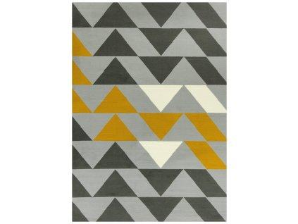 Kusový koberec LUNA 503848/89945 šedý/hořčicový