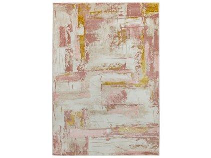 Moderní kusový koberec Orion OR01 růžový / krémový
