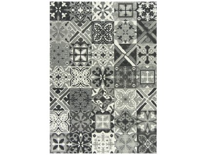 Kusový koberec LUNA 503754/89922 šedý patchwork