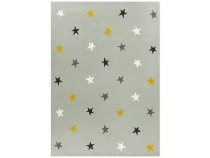 Dětský kusový koberec KIDS 533752/89945 šedý hvězdičky