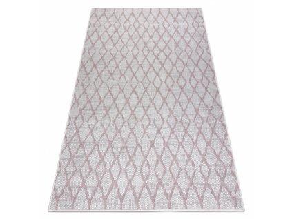 Kusový koberec Sisalový SION 22129 ecru / růžový