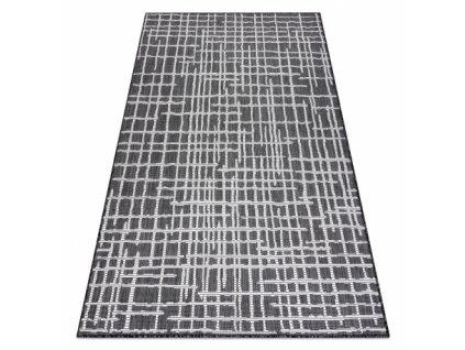 Kusový koberec Sisalový SION 22144 Proužky černý / ecru