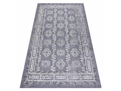 Kusový koberec Sisalový SION 2832 Klasický modrý / růžový / ecru