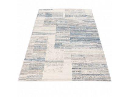 Moderní kusový koberec PORTLAND G498B bílý / modrý