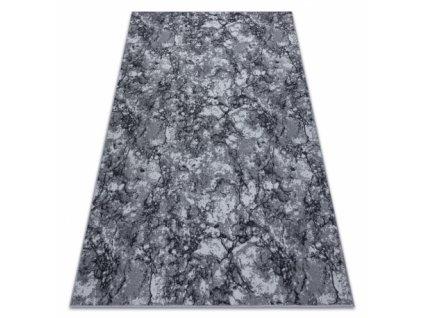 Moderní kusový koberec pogumovaný MARBLE Mramor beton kámen šedý