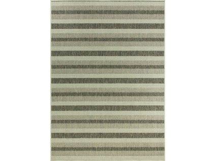 Kusový koberec pogumovaný Scandigel 7223/W71I Pruhy šedý / béžový