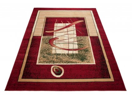Kusový koberec ATLAS 5118B Červený