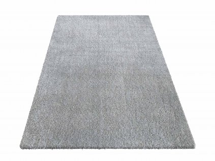 Kusový shaggy koberec jednobarevný Kamel Šedý