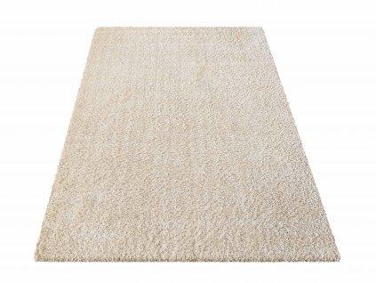 Kusový shaggy koberec jednobarevný Kamel béžový