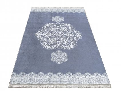 Kusový koberec klasický protiskluzový Horeca 10 šedý