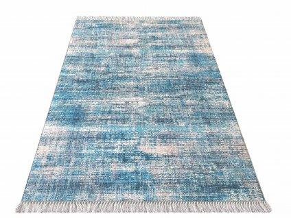 Kusový koberec protiskluzový Blanka 02 modrý