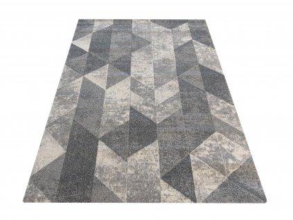 Moderní kusový koberec VISTA 01 Trojúhelníky šedý