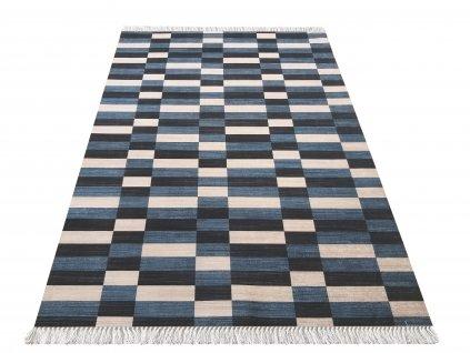 Kusový koberec protiskluzový Blanka 01 Jeans modrý