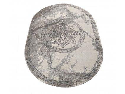 Oválný koberec Vista 04 šedý