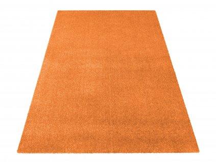 Kusový koberec jednobarevný Portofino pomerančový