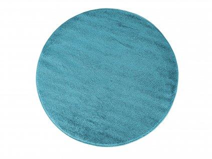 Kulatý koberec jednobarevný Portofino modrý