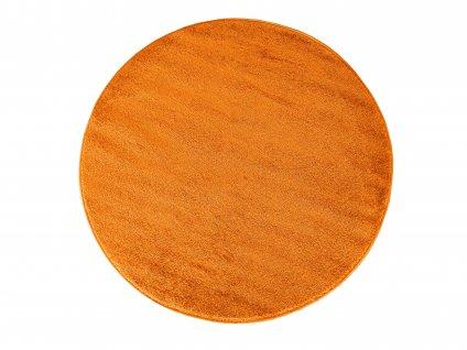Kulatý koberec jednobarevný Portofino pomerančový