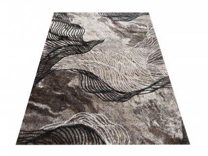 Moderní kusový koberec Hermes 02 Abstraktní hnědý