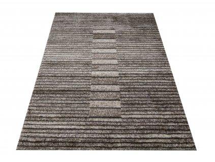 Moderní kusový koberec Hermes 04 Proužky hnědý