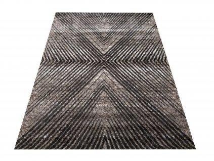 Moderní kusový koberec Hermes 08 Proužky hnědý