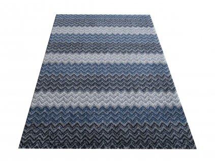 Moderní kusový koberec Sherpa 01 šedý / modrý