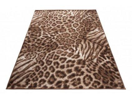 Moderní kusový koberec SCARLET DELUXE 70859/10845 Zvířecí kůže hnědý