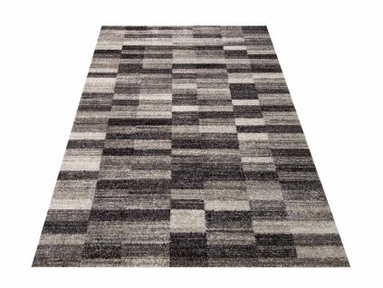Moderní kusový koberec Panamero 01 Kostky šedý