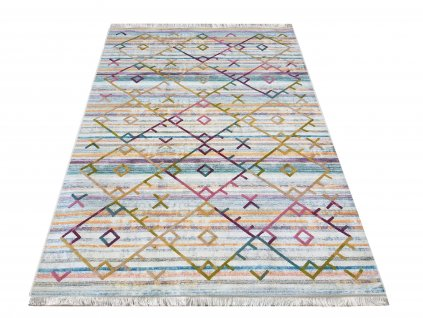 Moderní kusový koberec protiskluzový Hypnotik 04 vícebarevný