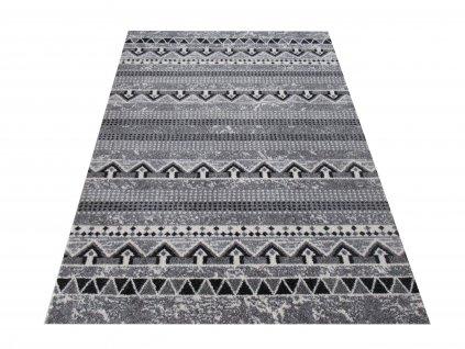 Moderní kusový koberec Iluzja 01 šedý
