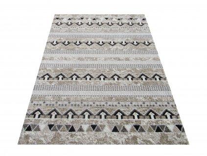 Moderní kusový koberec Iluzja 01 béžový