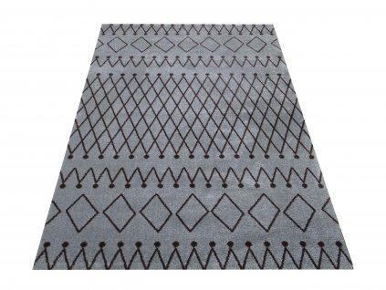 Moderní kusový koberec Maroko 03 šedý / hnědý