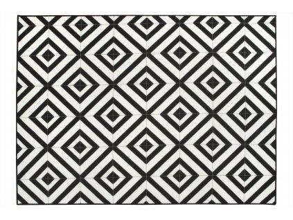 Moderní kusový koberec Sagres černý / bílý