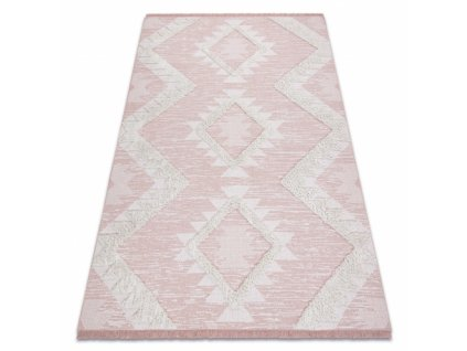 Kusový koberec Sisal MOROC 22312 růžový / krémový