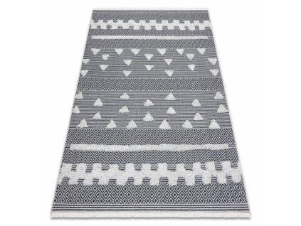 Kusový koberec Sisal MOROC 22321 šedý / krémový