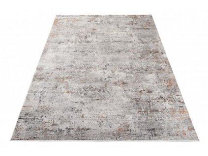 Moderní kusový koberec FEYRUZ S751B SHRINK Abstraktní světle šedý