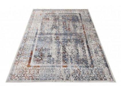 Moderní kusový koberec FEYRUZ S756A SHRINK Antracitový šedý