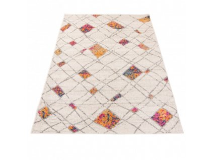 Moderní kusový koberec A892A DENVER bílý / oranžový