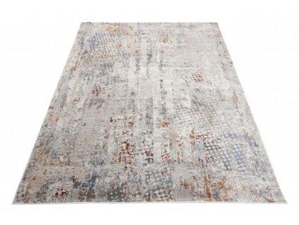 Moderní kusový koberec FEYRUZ S746B Abstraktní krémový