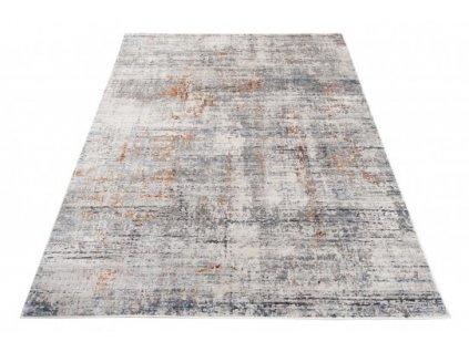 Moderní kusový koberec FEYRUZ S759B Abstraktní světle šedý