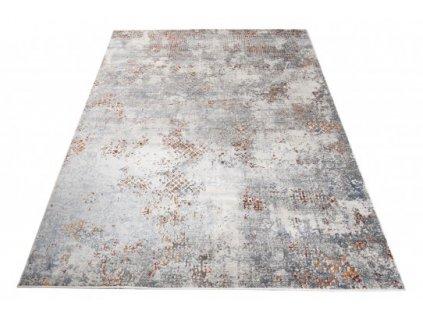 Moderní kusový koberec FEYRUZ S752A Abstraktní světle šedý