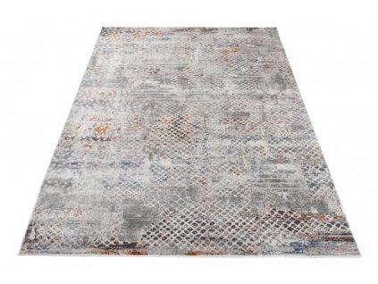 Moderní kusový koberec FEYRUZ S760D Abstraktní světle šedý
