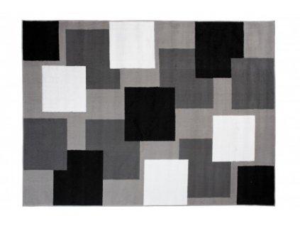 Moderní kusový koberec BALI C443A světle šedý / černý