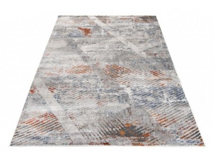 Moderní kusový koberec FEYRUZ S755B Abstraktní světle šedý