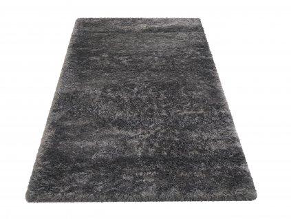 Kusový shaggy koberec jednobarevný Merinos Antracitový šedý