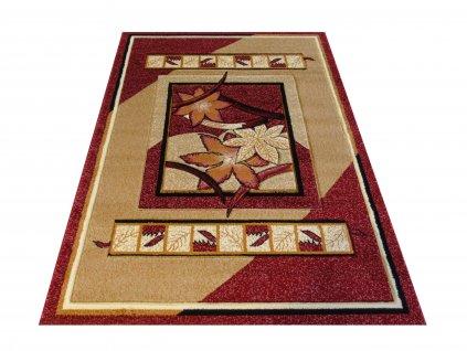 Kusový koberec Fenix 03 Květy červený