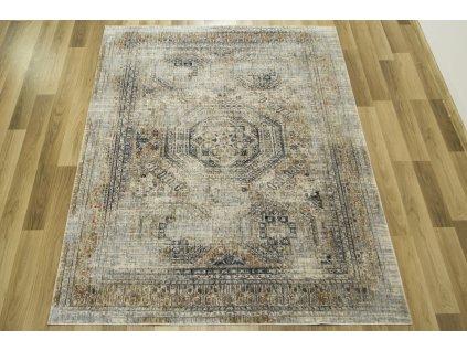 Moderní kusový koberec Kentucky 726 modrý / krémový