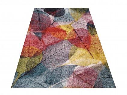 Moderní kusový koberec Casablanca 01 Listy vícebarevný
