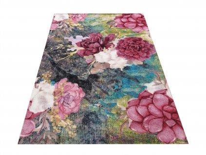 Moderní kusový koberec Casablanca 02 Květy vícebarevný