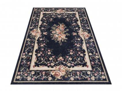 Klasický kusový koberec Casablanca 06 tmavě modrý